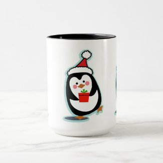 Penguin Christmas Mug - Penguins