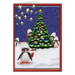 Penguin Christmas Paradise Greeting Card