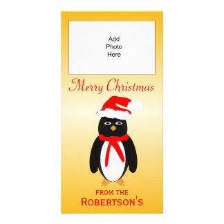Penguin Christmas Photo Card