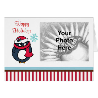 Penguin Christmas Photo Card