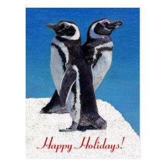 Penguin Christmas Postcard