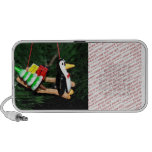 Penguin & Christmas Sled Ornament (2) Travel Speaker