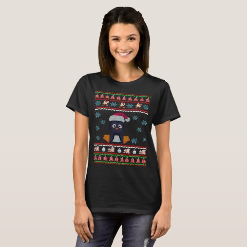 Penguin Christmas Ugly Sweater T-Shirt After Christmas Sales 4922
