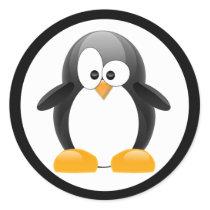 Penguin Classic Round Sticker