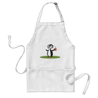 Penguin Coffee Adult Apron