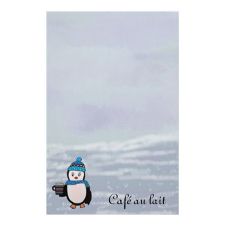Penguin Coffee Break Stationery