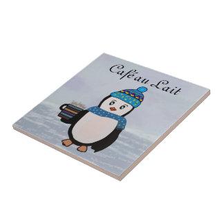 Penguin Coffee Break Tile