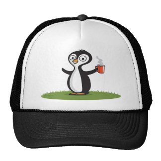 Penguin Coffee Trucker Hat