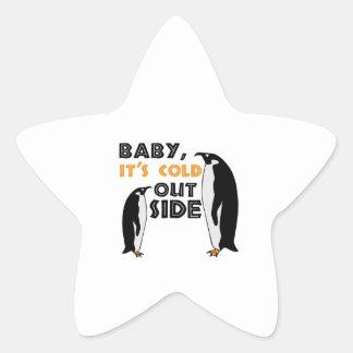 Penguin Cold Star Sticker