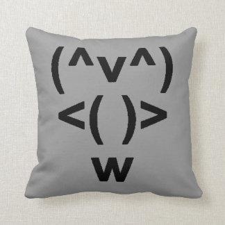 Penguin Computer Symbol Throw Pillow