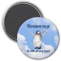 Penguin Confucius Inspirational Quote Magnet