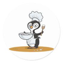Penguin Cook Classic Round Sticker