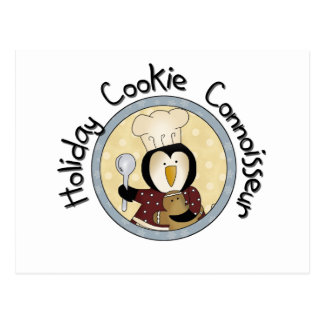 Penguin Cookie Connoisseur T-shirts and Gifts Postcard