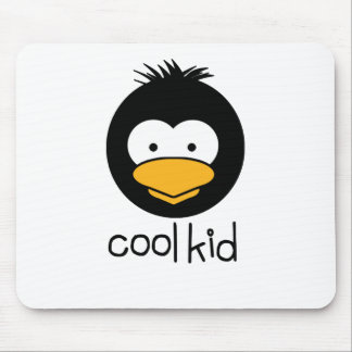 penguin - cool kid mouse pad