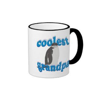 Penguin Coolest Grandpa Ringer Coffee Mug