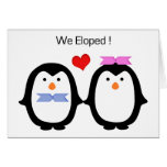 Penguin Couple Male Female Eloped Card
