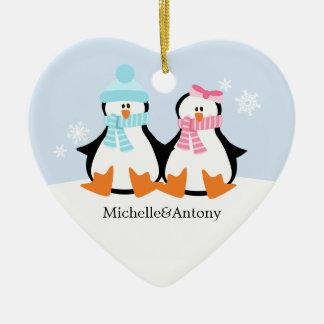Penguin Couple Ornaments