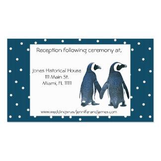 Penguin Couple Wedding enclosure cards Business Card