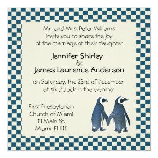 Penguin Couple Wedding Invitation