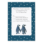 Penguin Couple Wedding RSVP Card