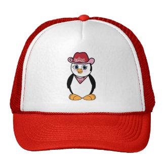 Penguin Cowgirl Trucker Hat