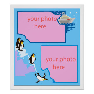 penguin customizable photo poster FROM 14.95