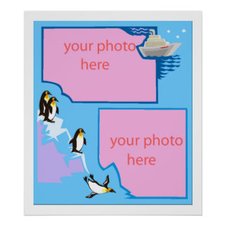 penguin customizable photo poster FROM 14.95 LARGE