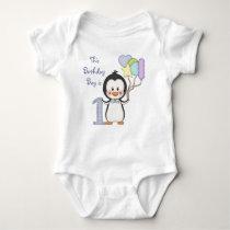 Penguin Cutie- Boy First Birthday Baby Bodysuit