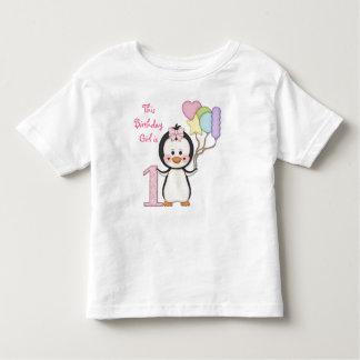 Penguin Cutie- Girl First Birthday Toddler T-shirt
