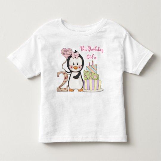 Penguin Cutie- Girl Second Birthday Toddler T-shirt
