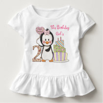 Penguin Cutie- Girl Second Birthday Toddler T-shirt