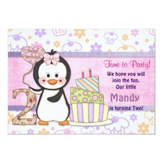 Penguin Cutie- Girl Second Card