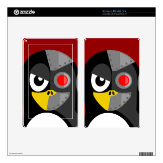 Penguin Cyborg Decal For Kindle Fire