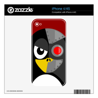 Penguin Cyborg Decals For The iPhone 4S