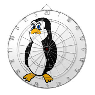 Penguin Dartboard With Darts