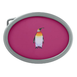 Penguin Deep Red Oval Belt Buckle