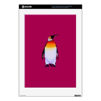 Penguin Deep Red PS3 Decals