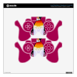 Penguin Deep Red Skins For PS3 Controllers