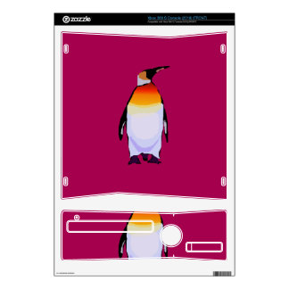 Penguin Deep Red Xbox 360 S Decal