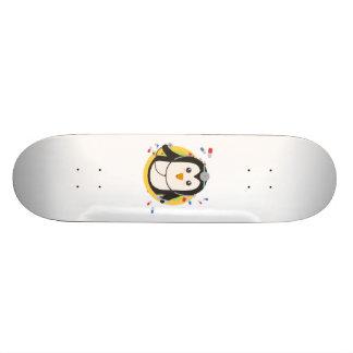 Penguin doctor in circle Z2j5l Skateboard Deck