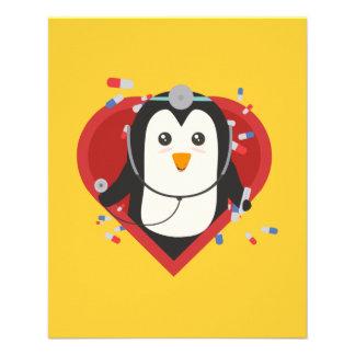 Penguin doctor with heart Zal28 Flyer