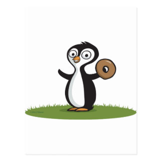 Penguin Donuts Post Card