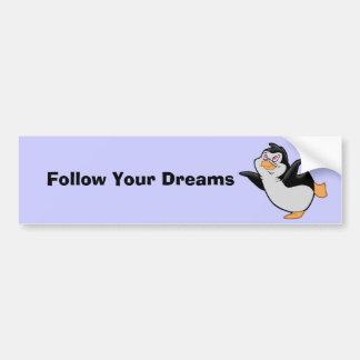 Penguin Dreaming Bumper Sticker