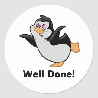 """Penguin Dreaming """"Well Done"""" Sticker"""