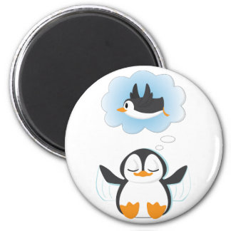 Penguin Dreams 2 Inch Round Magnet
