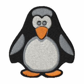 Penguin Embroidered On Polo Shirt