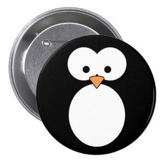 Penguin Eyes 3 Inch Round Button
