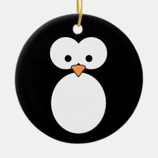 Penguin Eyes Ceramic Ornament