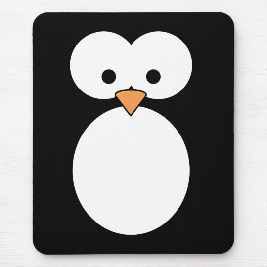 Penguin Eyes Mouse Pad
