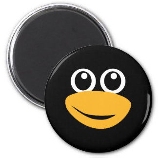 penguin face 2 inch round magnet